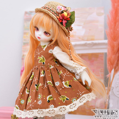 娃娃衣服 HDF Little bird set Redbrown