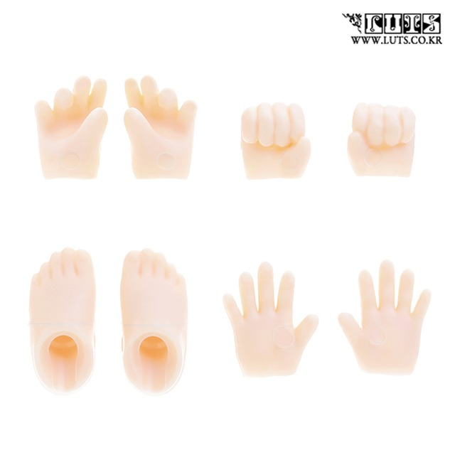 娃娃 Hands&Foot Set A For Obitsu 11 Body (White/Matt Skin)
