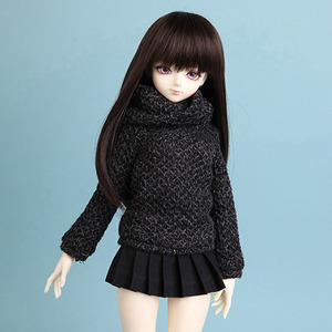 娃娃衣服 KDF diamond knitwear Charcoal
