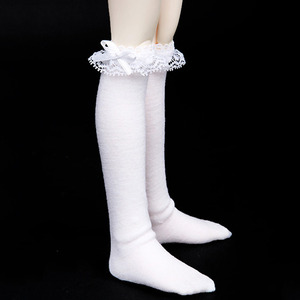 娃娃衣服 KDF RIBBON KNEE SOCKS For Kid Delf White