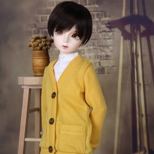 娃娃衣服 KDF Colorful Cardigan Yellow