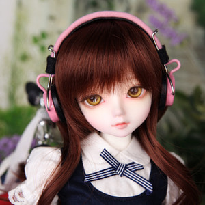 娃娃饰品 Headphone HDF KDF Pink