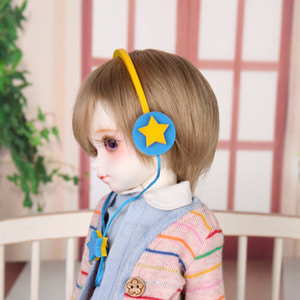 娃娃饰品 Headphone HDF Yellow Star