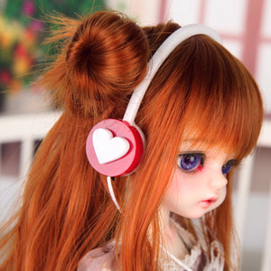 娃娃饰品 Headphone HDF White Heart