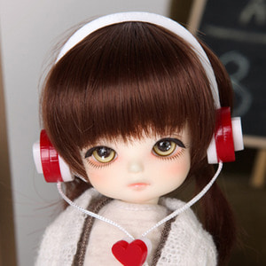 娃娃饰品 Headphone TDF White Heart