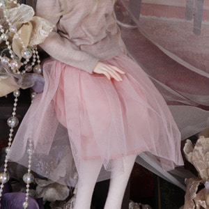 娃娃衣服 KDF Sha Long Skirt Pink