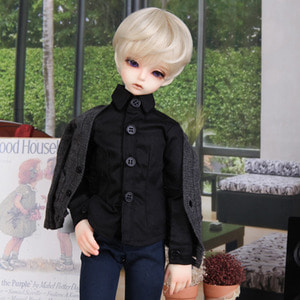 娃娃衣服 KDF BASIC SLIM SHIRTS For Kid Delf Black