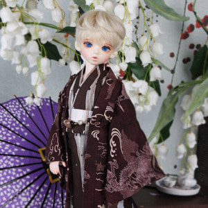 娃娃衣服 KDF Yukata Set Brown