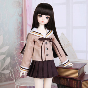 娃娃衣服 KDF School Look Set Brown