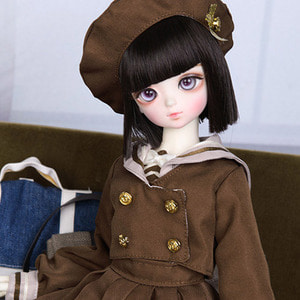 娃娃衣服 KDF School Girl Set Brown