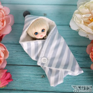 娃娃用品 TDF Swaddle blanket Blue