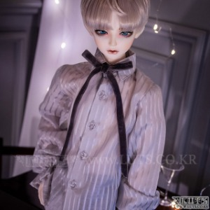 娃娃衣服 SDF65 Velvet Ribbon Blouse Gray