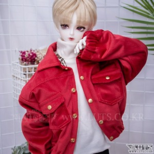 娃娃衣服 SDF65 Corduroy Tiger Jacket Red