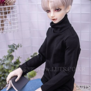 娃娃衣服 SDF65 Simple turtleneck (Black)