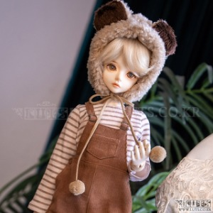 娃娃衣服 KDF Bear Corduroy Overalls Set Brown