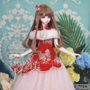 娃娃衣服 SDF China Dress set Red