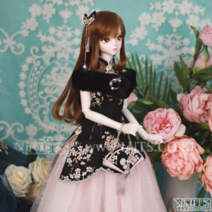 娃娃衣服 SDF China Dress set Black