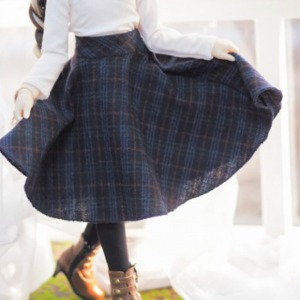娃娃衣服 [Pre-Order] [MSD]Check long skirt(Navy)
