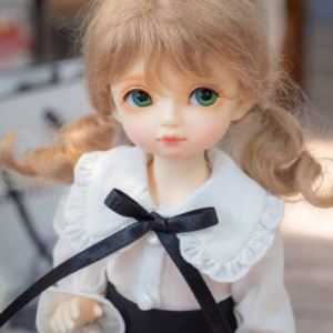 娃娃衣服 [Pre-order] USD Big Collar Blouse (White)