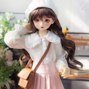 娃娃衣服 [Pre-order] MSD Big Collar Blouse (White)